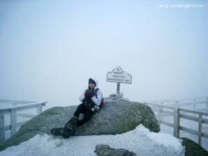 Jade at the summit of Whiteface Mountain, 2012. Photo by Kristen Vitro.