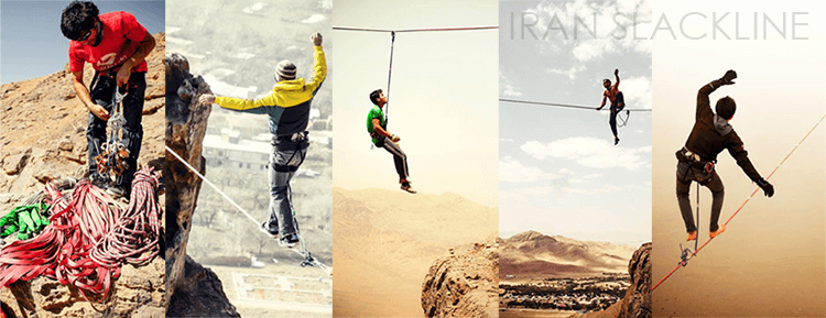 Iran Slackline established ten highlines in Iran since 2012.