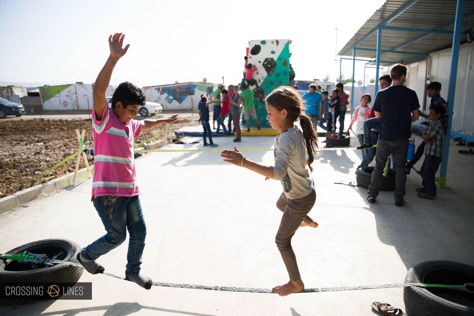 Crossing Lines Lebanon Teaching Day 2 Two kids
